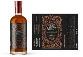 Vintage Style Whiskey Label Layout