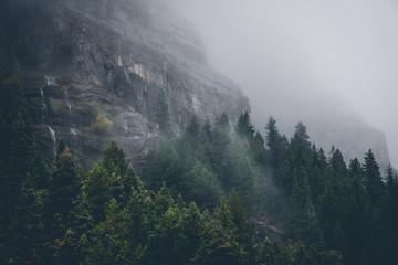 Deurstickers Bergen Fall clouds