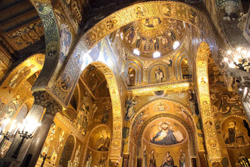 La pose en embrasure Palerme Richness and beauty of Palatine chapel in Palermo