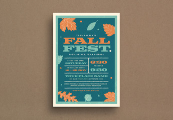 Fall Festival Event Flyer Layout