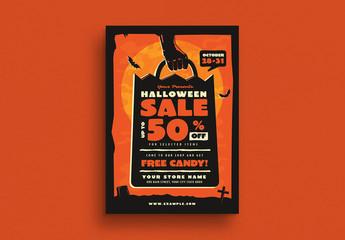Halloween Sale Event Flyer Layout