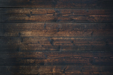 Photo sur Plexiglas Bois Old Vintage dark brown wooden table textured background (high details)