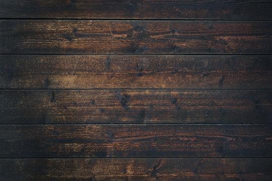 Old Vintage dark brown wooden table textured background (high details)