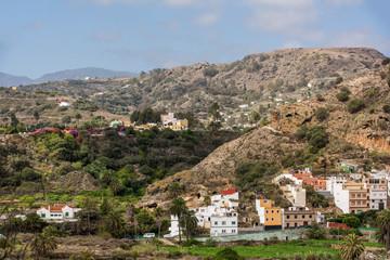 Gebirgslandschaft beim Botanischen Garten auf Gran Canaria