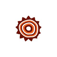 Aboriginal art dots painting icon logo illustration template