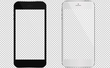 2 phones with transparent screens.