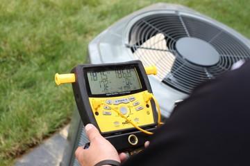 Repairman for air conditioner HVAC system