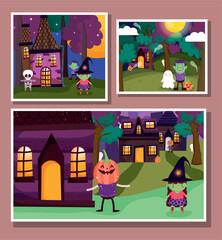 frame photos celebration trick or treat - happy halloween
