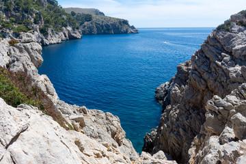 view of Pollensa Bay in Majorca