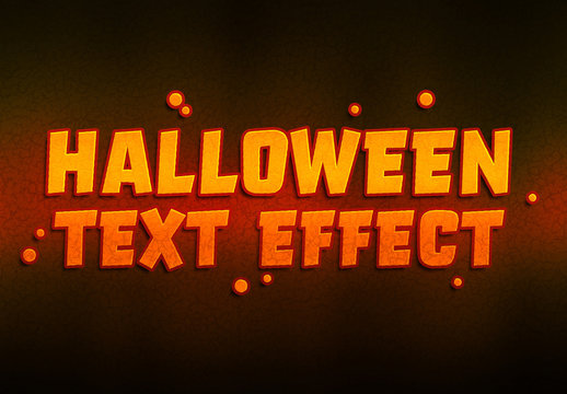 Halloween Pumpkin Text Effect Mockup