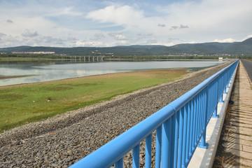 Ujezd dam near czech city of Chomutov on end of summer on 8th september 2019