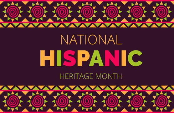 National Hispanic Heritage Month celebrated from 15 September to 15 October USA. Latino American ornament vector