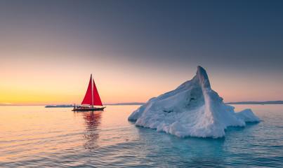 Beautiful landscape in Disko bay, Ilulissat, Greenland