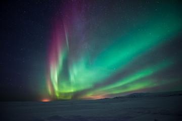 Wall Murals Northern Europe Northern lights aurora borealis