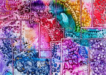 Tapestry art pattern in wax