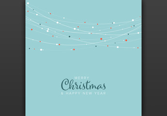 Minimalist Christmas Card Layout