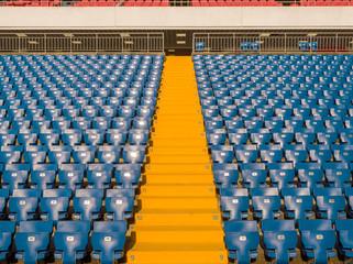 Foto auf Leinwand Stadion Rows of spectator seats at a football stadium