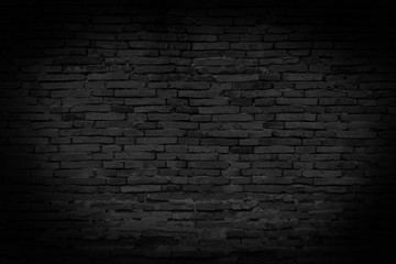 Black brick walls that are not plastered background and texture. The texture of the brick is black....