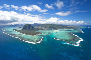 Photo sur Aluminium Vue aerienne Mauritius island, Indian ocean