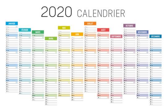 Calendrier 2020 décalé