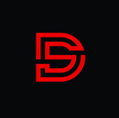 letter ds vector download