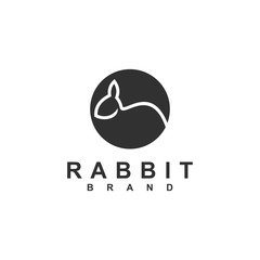 Rabbit logo template vector icon symbol illustration