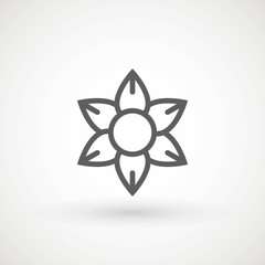 Flower Icon in trendy flat style isolated on white background. Spring symbol for your web site design, logo, app, UI. Vector illustration.