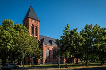 """Katholische Kirche """"St. Johannes Baptist"""" in Fürstenwalde/Spree, Blick von Süden"""
