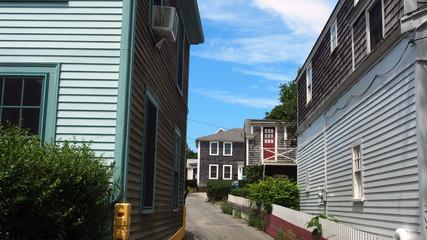 Provincetown, Cape Cod, Massachusetts, USA: historische Holzhäuser