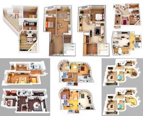 3d render, illustration, apartment, rendering