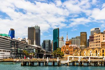 Modern city architecture in Sydney downtown area. Sydney, Australia, 2019.