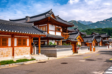 eunpyeong hanok village at seoul south korea Wall mural