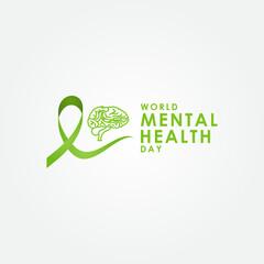 Mental Health Day Vector Design Template