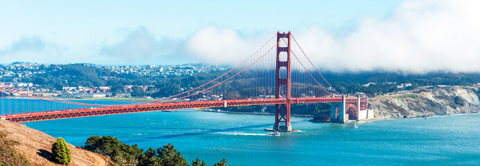 View of The Golden Gate Bridge in San Francisco, USA.