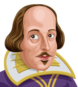 Portrait of William Shakespeare the famous English poet and writer