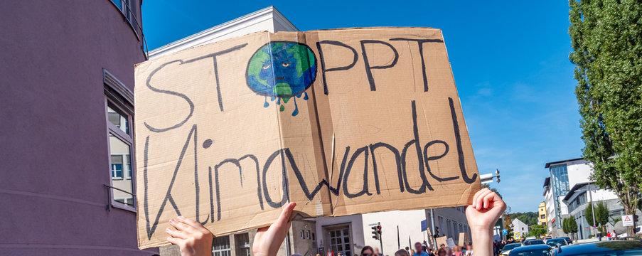 Panorama Stoppt Klimawandel Banner