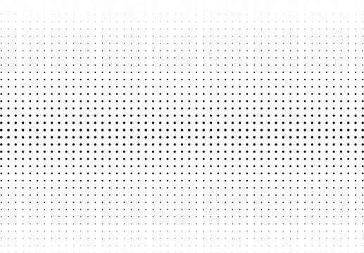 Abstract halftone dotted background. Monochrome pattern with dot and circles.  Vector modern futuristic texture for posters, sites, business cards, cover postcards, interior design, labels, stickers.