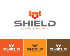 Various shield secure logo for your company
