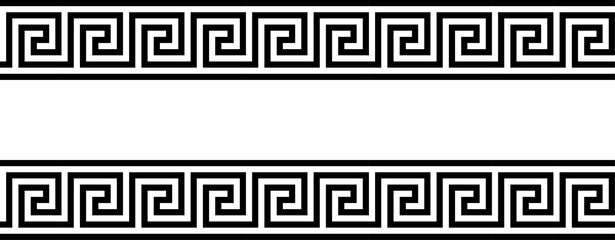 Greek key. Greek motives texture border or frame