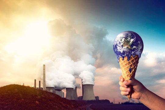 Klimaerwärmung durch Kohlekraftwerk