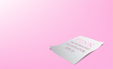Abstract pink background gradient papper and silhouette that is used as a component of the work