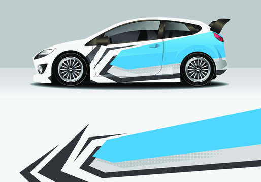 car wrap modern abstract design background