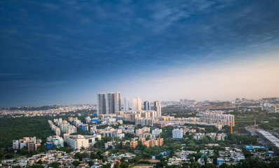 Hyderabad city buildings and skyline in India Fototapete