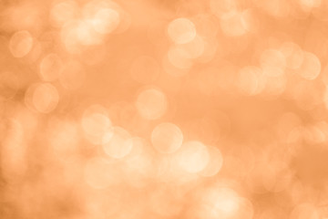 Abstract orange or gold bokeh background
