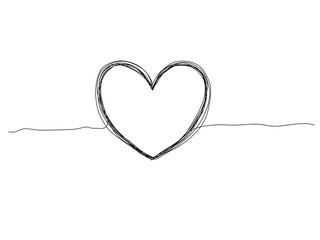 vector illustration of hand drawn heart on white background