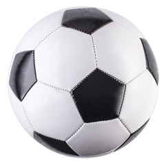 Zelfklevend Fotobehang Bol Soccer ball isolated on white background