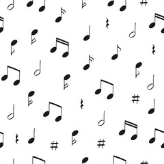 Seamless music pattern with note