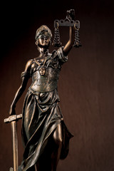Themis Statue Justice Scales Law Lawyer Business Concept.