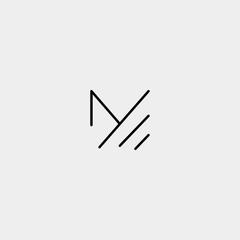 Letter M MM Monogram Logo Design Minimal