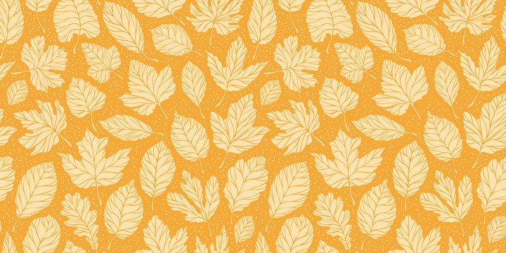 Leaf fall leaves seamless background. Autumn concept. Vector illustration